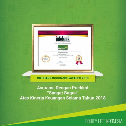 Equity Life Indonesia Raih Predikat Sangat Bagus Pada Infobank Insurance Awards 2019